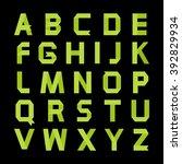alphabet vector .paper green... | Shutterstock .eps vector #392829934