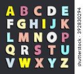 vector abstract needled...   Shutterstock .eps vector #392830294