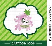 monster cartoon theme elements... | Shutterstock .eps vector #392834089