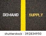 antonym concept of demand... | Shutterstock . vector #392834950