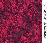 colorful harmonious doodle...   Shutterstock .eps vector #392835214