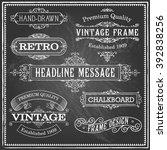 vintage chalkboard frames   set ... | Shutterstock .eps vector #392838256