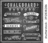 Vintage Chalkboard Banners  ...