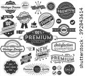 vintage copyspace design... | Shutterstock .eps vector #392843614