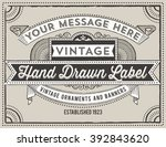 vintage label design   retro... | Shutterstock .eps vector #392843620