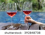 Two Wine Glasses Place By The...
