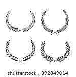 laurel wreaths vector set.... | Shutterstock .eps vector #392849014