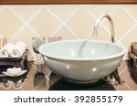 beautiful luxury sink... | Shutterstock . vector #392855179