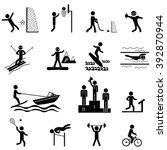 sport life. raster icons set