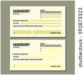 cash receipt design template stock vector royalty free 392873323
