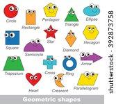 geometric shapes set in vector  ... | Shutterstock .eps vector #392873758