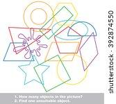 geometric shapes set mishmash... | Shutterstock .eps vector #392874550