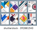 abstract backgrounds set.... | Shutterstock .eps vector #392881543