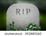 Rip on grave funeral background