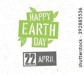 typographic design for earth...   Shutterstock .eps vector #392885536