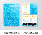 vector flyer template design.... | Shutterstock .eps vector #392885713