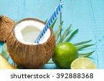 exotic freshly squeezed juice... | Shutterstock . vector #392888368