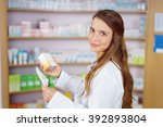 single pharmacy technician in... | Shutterstock . vector #392893804