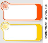 two vector text boxes for your... | Shutterstock .eps vector #392907418