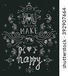 inspirational hand written... | Shutterstock .eps vector #392907664