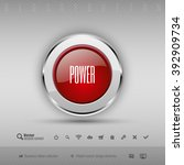 red and gray glossy button with ... | Shutterstock .eps vector #392909734
