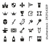 medieval castle icons | Shutterstock .eps vector #392914309