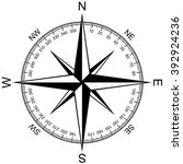 compass rose isolated on white... | Shutterstock .eps vector #392924236