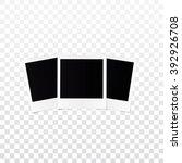 retro photo frame isolated on... | Shutterstock . vector #392926708