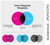 venn diagram template design | Shutterstock .eps vector #392927293