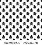 scarab beetles seamless pattern. | Shutterstock .eps vector #392936878
