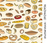 seamless bread background on... | Shutterstock .eps vector #392942956