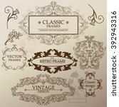 set of baroque  antique frames  ... | Shutterstock .eps vector #392943316