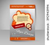 template of flyer for business... | Shutterstock .eps vector #392943994