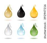 vector illustration of drops of ... | Shutterstock .eps vector #392947216