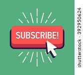 cool vector subscribe button... | Shutterstock .eps vector #392950624