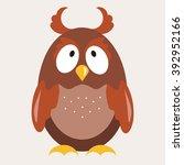 owl flat vector illustration 1 | Shutterstock .eps vector #392952166