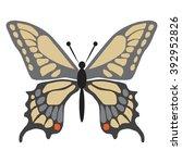 papilio sp butterfly flat vector | Shutterstock .eps vector #392952826