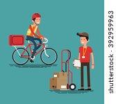 cool supply chain shipment...   Shutterstock .eps vector #392959963