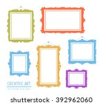 vector illustration of colorful ... | Shutterstock .eps vector #392962060