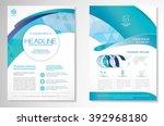 vector brochure flyer design... | Shutterstock .eps vector #392968180