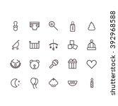 baby icon set vector.   Shutterstock .eps vector #392968588