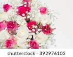box of flowers. beautiful... | Shutterstock . vector #392976103