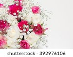box of flowers. beautiful... | Shutterstock . vector #392976106