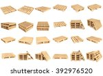 euro pallet isolated on white... | Shutterstock . vector #392976520