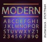 modern font alphabet set....   Shutterstock .eps vector #392979664