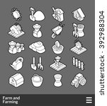 isometric outline icons  3d... | Shutterstock .eps vector #392988304