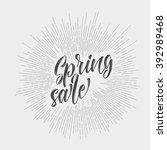 modern hipster spring sale  ... | Shutterstock .eps vector #392989468