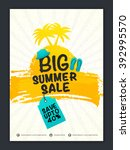 big summer sale banner  sale... | Shutterstock .eps vector #392995570