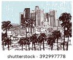 scene street illustration ... | Shutterstock .eps vector #392997778