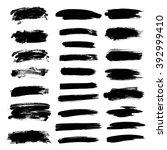 hand drawn brush stroke... | Shutterstock .eps vector #392999410